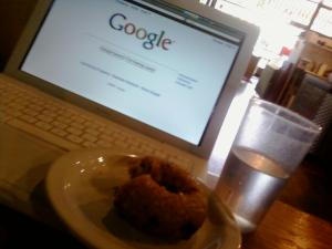 The Google Search Engine passes on the coffee, but indulges in a little stress eating.
