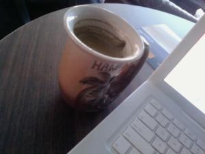 Matcha Latte (Grean Tea & Steamed Milk) at Mugs in Vancouver, WA