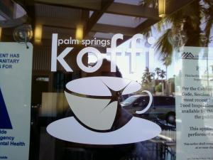 Door logo of koffi cafe
