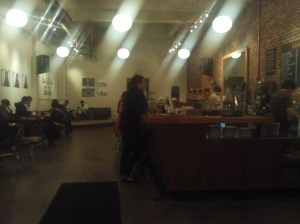 Interior of Stumptown Coffee Roasters