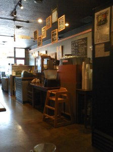 Interior of Mon Ami coffee shop